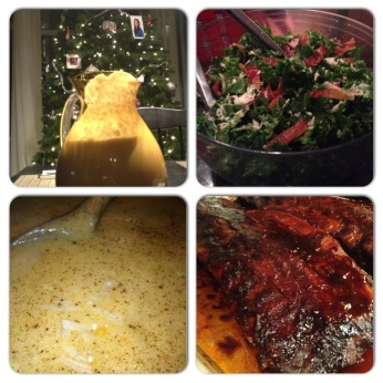 Ice Storm Dinner Collage