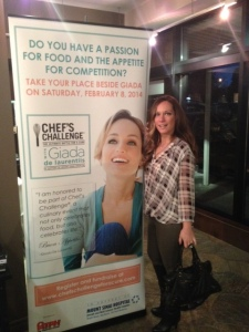 pre chefs challenge - Kate and Giada